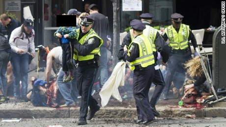 Boston Marathon bombing evidence