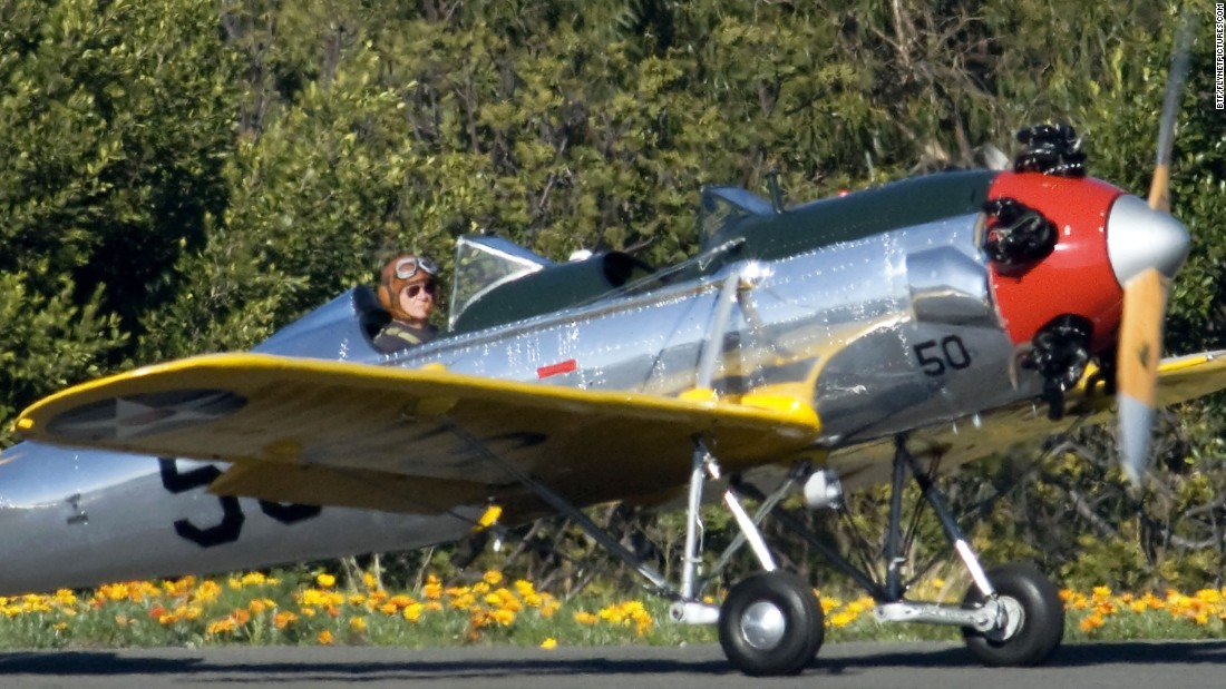 Actor Harrison Ford Flies a