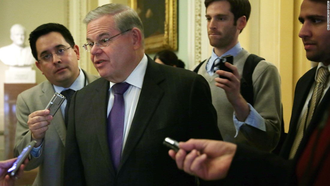 "U.S. Sen. Robert Menendez, a New Jersey Democrat, was indicted on corruption charges on April 1. Federal prosecutors have accused Menendez of using his Senate office to push the business interests of a friend and donor in exchange for gifts. <a href=""http://www.cnn.com/2015/04/02/politics/menendez-indictment-takeaways/"">The senator has pleaded not guilty</a> to the charges and vehemently asserts his innocence."