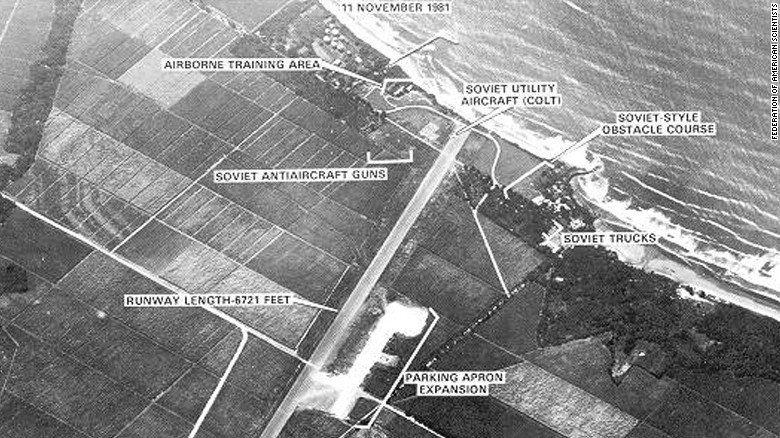 FAS.org posted this 1981 image of a Nicaraguan airfield, which it says was captured by surveillance equipment aboard an SR-71.