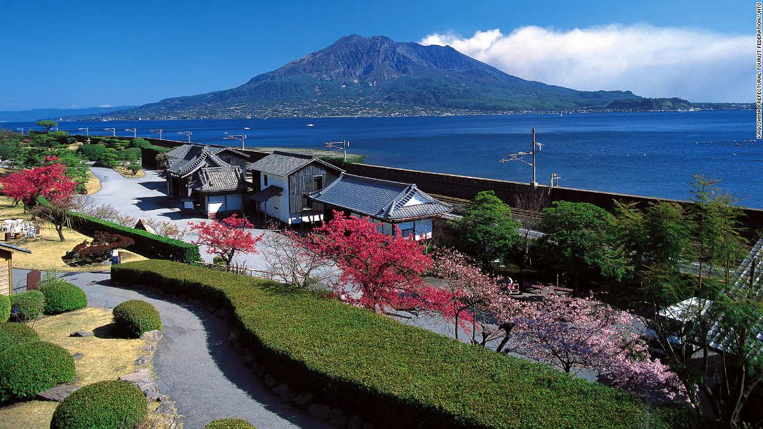 "The Japanese style landscape garden features small ponds, streams, shrines and a bamboo grove. <br />Set along the coast north of downtown Kagoshima, visitors can look out at Sakurajima volcano and Kagoshima Bay. <br />The garden dates back to 1658, during Japan's Edo period.<em><br /><a href=""http://www.senganen.jp/en/senganen/index.html"" target=""_blank"">Sengan-en</em></a><em>, 9700-1 Yoshinocho, Kagoshima, Japan; +81 99 247 1551</em>"