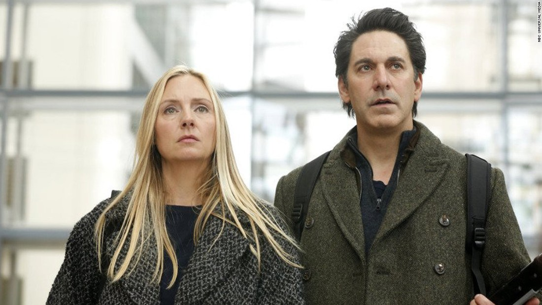 "NBC pulled the plug on the spy drama ""Allegiance"" in March after just five episodes, <a href=""http://tvline.com/2015/03/06/allegiance-cancelled-season-1-nbc/"" target=""_blank"">according to TVLine</a>. ""I am immensely proud of the work we created on #Allegiance and count myself honored and privileged to have worked with such an incredible cast and crew,"" <a href=""https://twitter.com/gavinstenhouse/status/573922052576428033"" target=""_blank"">actor Gavin Stenhouse</a> said on Twitter. Stenhouse played a CIA analyst investigating his parents, played by Hope Davis and Scott Cohen, pictured here, who, unbeknownst to him, are actually retired Russian spies."