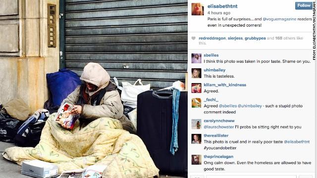 Retiran de Instagram de editora de Vogue la foto de una 'desamparada' leyendo la revista