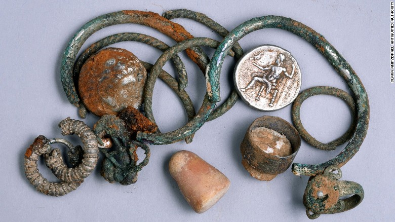 Descubren en Israel un tesoro de la época de Alejandro Magno