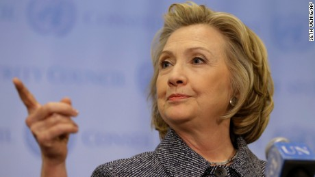 """Hillary Rodham Clinton speaks to the reporters at United Nations headquarters, Tuesday, March 10, 2015.   Clinton conceded Tuesday that she should have used a government email to conduct business as secretary of state, saying her decision was simply a matter of """"convenience.""""(AP Photo/Seth Wenig)"""