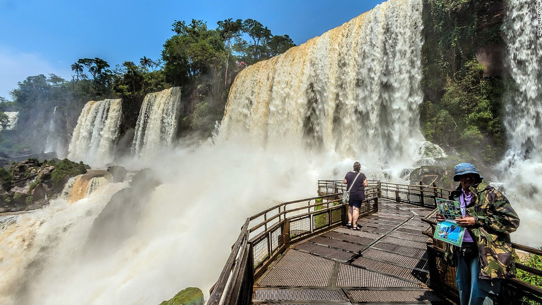 On the Argentinean side, you can walk along several boardwalks for a close look at the falls.