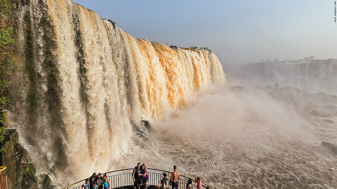 The best time to visit the Iguazu Falls is early in the morning before crowds arrive.