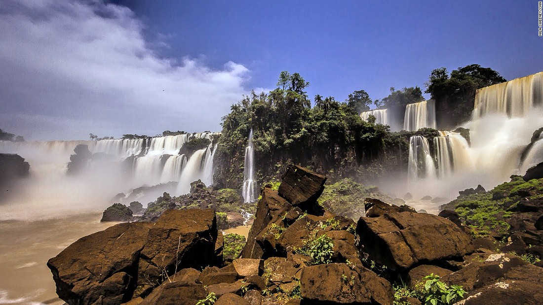The Devil's Throat is made up of 14 powerful waterfalls, which creates the widest water curtain at Iguazu.