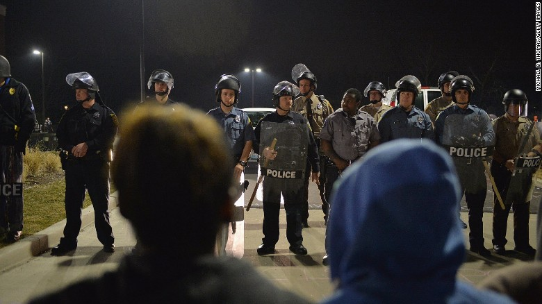 Ferguson: 2 police officers shot after police chief resigns