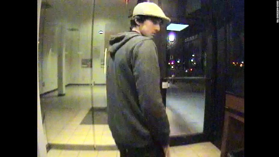 Another view of Tsarnaev's visit to the ATM.