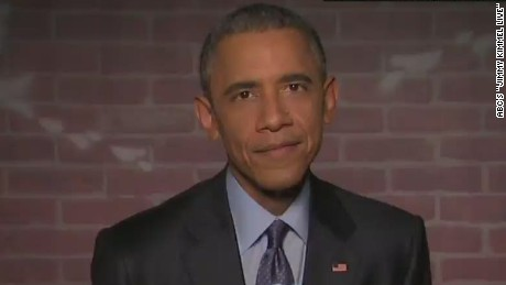 newday sot obama reads mean tweets on jimmy kimmel live_00002524.jpg