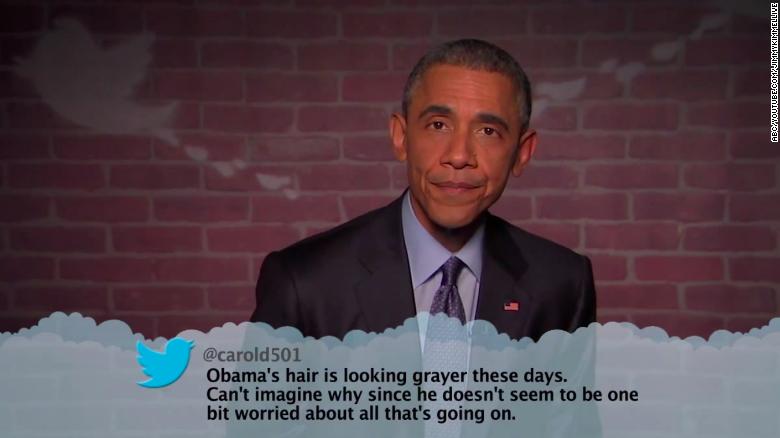 "Obama se atreve a leer tuits ""odiosos"" durante el show de Jimmy Kimmel"