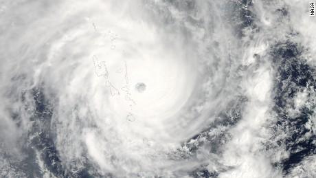 Tropical Cyclone Pam hits Vanuatu