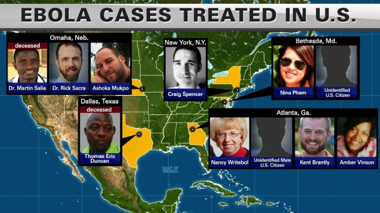 While another American is treated for Ebola, 11 of the patient's colleagues undergo monitoring.