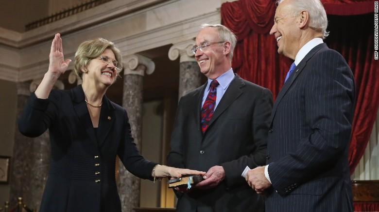 Why were Biden, Warren meeting in Washington?