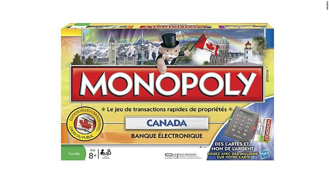 monopoly board with credit card machine
