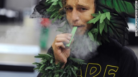 """Vaporizers have also been adapted for marijuana. They have been developed for the medical market and contain cannabidiol (CBD), a method of effective pain-relief for glaucoma and migraines, whilst omitting THC which causes the """"high"""" felt by traditional weed smokers."""