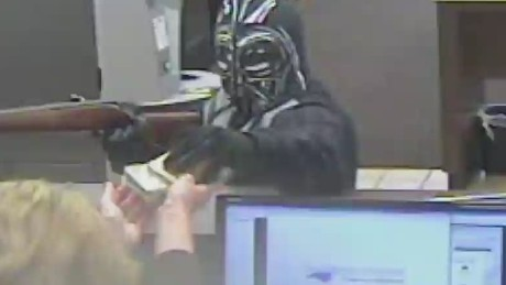 Man dressed as Darth Vader robs a NC bank.