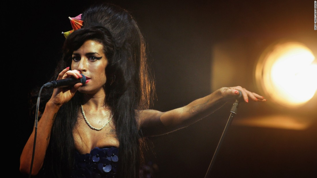 "Brit songstress Amy Winehouse was found dead in her London home in July 2011, just 27 years old. The soulful singer, who openly struggled with <a href=""http://marquee.blogs.cnn.com/2011/09/12/mitch-winehouse-amy-hadnt-done-drugs-in-three-years/?iref=allsearch"" target=""_blank"">drug and alcohol abuse</a> during her career, <a href=""http://www.cnn.com/2013/01/08/showbiz/uk-amy-winehouse-inquest/index.html?iref=allsearch"" target=""_blank"">died of accidental alcohol poisoning</a>, a finding that sparked a global <a href=""http://www.cnn.com/2011/OPINION/07/27/danovitch.winehouse.addiction/index.html?iref=allsearch"" target=""_blank"">conversation</a> <a href=""http://www.cnn.com/2011/SHOWBIZ/Music/07/25/winehouse.death.reaction/index.html?iref=allsearch"" target=""_blank"">on the nature</a> of substance abuse and its treatment. The documentary ""Amy"" about her life was released in July."