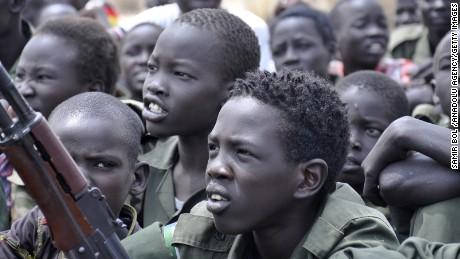 Child soldiers around the world.