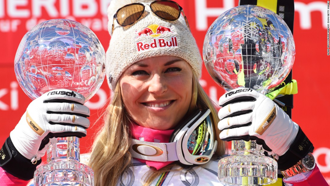 "Skier Lindsey Vonn, in her comeback season after a serious knee injury, <a href=""http://www.cnn.com/2015/03/19/sport/lindsey-vonn-world-cup-skiing/index.html"" target=""_blank"">won World Cup titles</a> in the downhill and the super-G this week in France."