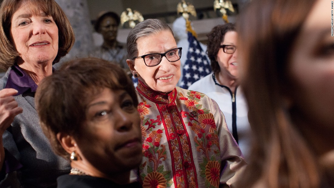 "Last April, Scalia appeared at the National Press Club beside his judicial polar opposite -- and friend -- Supreme Court Justice Ruth Bader Ginsburg. The two were asked how they would amend the Constitution, if they could. Ginsburg, seen here at an annual Women's History Month event at the U.S. Capitol in March, didn't hesitate: ""If I could choose an amendment to add to this Constitution, it would be the Equal Rights Amendment,"" she said."
