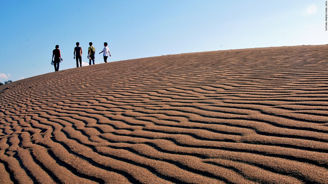 "Yes, there's a desert on Japan's islands. <br />The Tottori Sand Dunes span 16 kilometers long and two kilometers wide and are the only large sand hills in Japan. <br />The dunes are a blend of sand and volcanic ash mixed over a period of almost 100,000 years then shaped by winds from the Sea of Japan.<br />Part of the San'in Kaigan Geopark, they can be experienced via camel rides, dune buggies and sandboarding.<em><br /><a href=""http://sanin-geo.jp/en/index_en.html"" target=""_blank"">San'in Kaigan Geopark</em></a><em>, Tottori Sand Dunes, Tottori, Japan; +81 796 26 3783</em>"