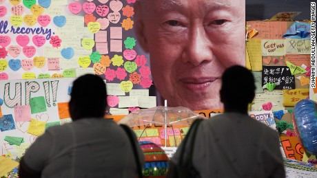 Hospital staff mourn the passing of former Prime Minister Lee Kuan Yew outside the Singapore General Hospital on March 23, 2015 in Singapore. Former Prime Minister, Lee Kuan Yew, 91, died last night at Singapore General Hospital after spending several weeks in critical condition after being admitted for pnemonia on February 5. Lee Kuan Yew served as the first Prime Minister of Singapore when it gained rule from Britain in 1959 and until he stepped down in 1990. (Photo by Suhaimi Abdullah/Getty Images)