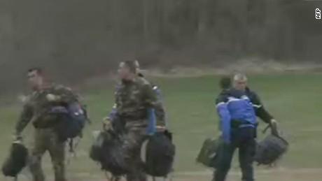 lv germanwings plane crash staging area video afp _00000614