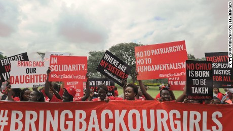 In April Islamic fundamentalist group Boko Haram kidnaps more than 200 schoolgirls in Chibok, Borno state, threatening to force them into marriage and sell them off as slaves. International outcry ensues across social media, but over a year later the girls have yet to be released.