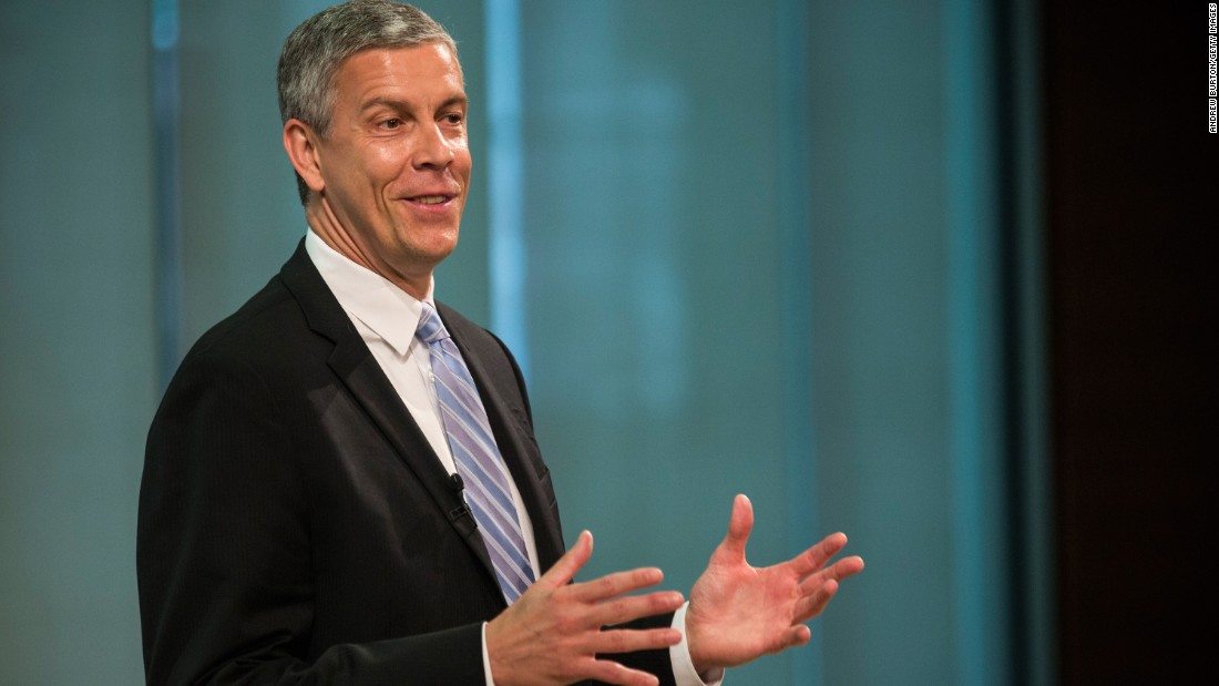 U.S. Secretary of Education Arne Duncan spoke at the Georgia Institute of Technology in Atlanta on May 2.
