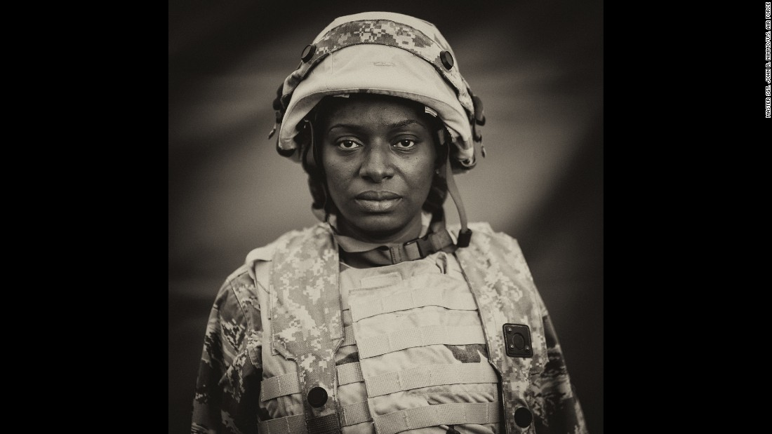 U.S. Air Force Staff Sgt. Nadia Rowell poses for a portrait March 15, 2014, at the Joint Readiness Training Center in Fort Polk, Louisiana. Service members at the center receive training in patient care and medical evacuation in a simulated combat environment.