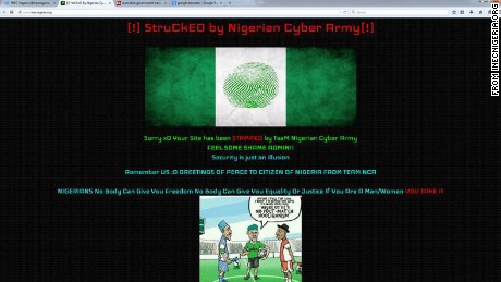 Hackers breached Nigeria's election commission website.