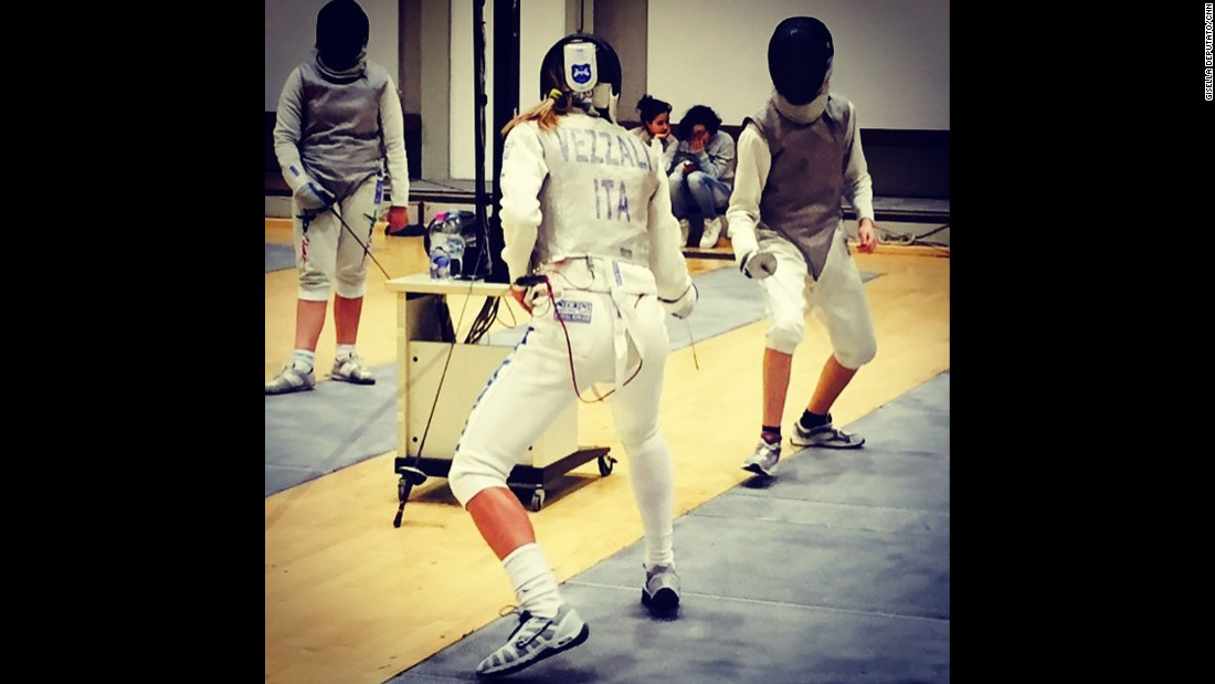 "JESI, ITALY: ""Olympic fencing champion Valentina Vezzali in action! Extraordinary woman, with 6 gold medals under her belt. Aged 41, she'll be aiming for gold in Rio."" - CNN's Gisella Deputato.<br />Follow <a href=""http://instagram.com/gisellacnn"" target=""_blank"">@gisellacnn</a> and other CNNers on the <a href=""http://instagram.com/cnnscenes"" target=""_blank"">@cnnscenes</a> gallery on Instagram for more images you don't always see on news reports from our teams around the world."