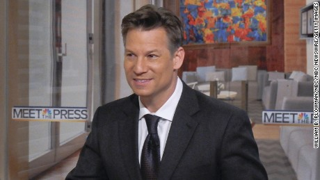 "Richard Engel, NBC News Chief Foreign Correspondent, right, appears on ""Meet the Press"" in Washington, D.C., Sunday Dec. 14, 2014."