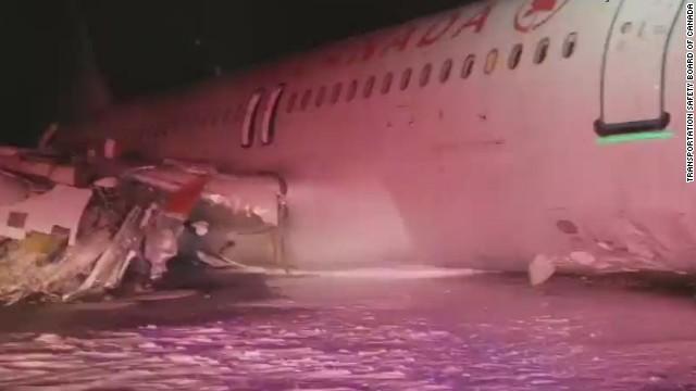 Un avión de Air Canadá se sale de pista en Halifax y deja 25 heridos