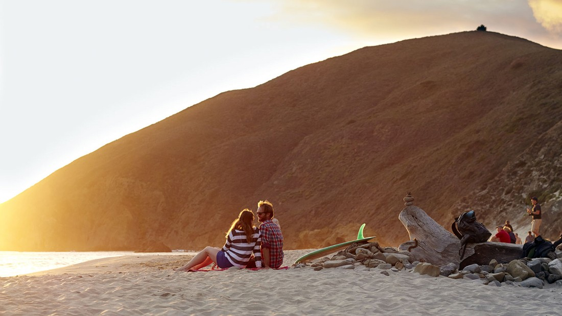 Pfeiffer Beach is a hard-to-access but beautiful stretch of sand in the mountainous Big Sur region of California's Central Coast area.