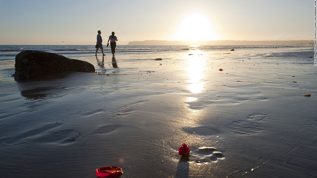 San Diego alone has 70 miles of shoreline, ranging from flat, golden beaches to rocky shorelines and powerful surfing swells.
