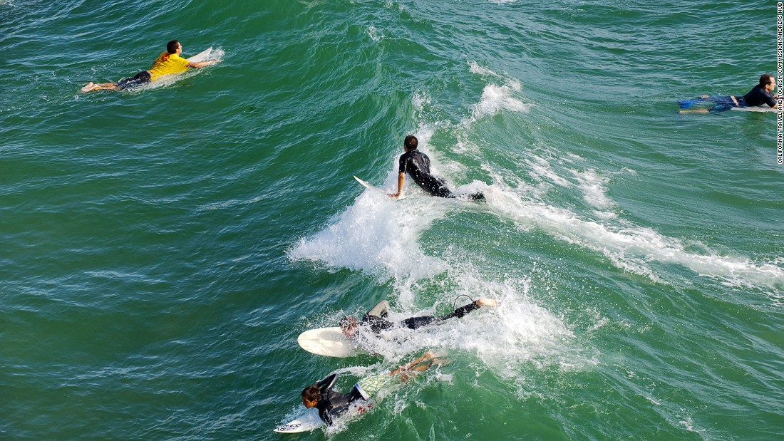 There are professional surf schools in virtually every town and city along the California coast.