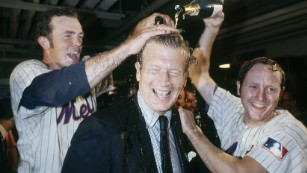 The 1969 Miracle Mets won the World Series -- and, just as surprisingly at the time, New York Mayor John Lindsay, center, won re-election.