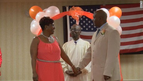 Coworkers surprise bride with ceremony