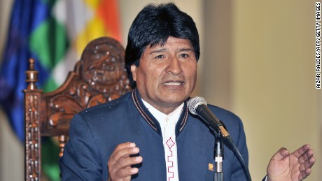Bolivian President Evo Morales speaks during a press conference in La Paz on March 30, 2015, a day after regional elections. Morales said that it was the 'protest vote against corruption' that caused the defeat of his party. AFP PHOTO/Aizar Raldes (Photo credit should read AIZAR RALDES/AFP/Getty Images)