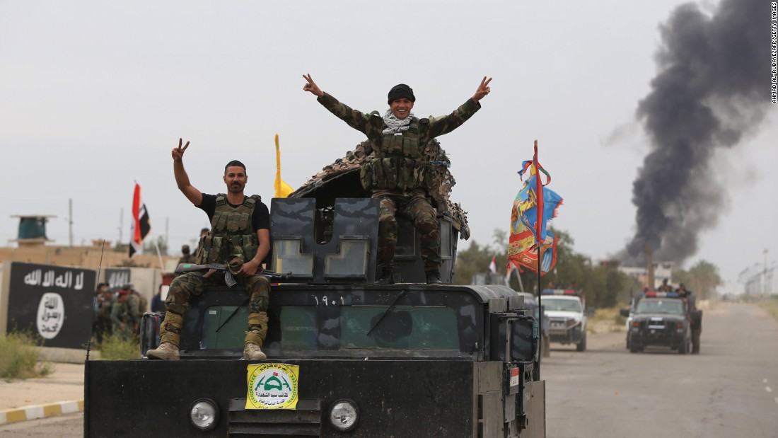 On Apr 1, Shiite militiamen applaud a retaking of Tikrit, that had been underneath ISIS control given June. The pull into Tikrit came days after U.S.-led airstrikes targeted ISIS bases around a city.