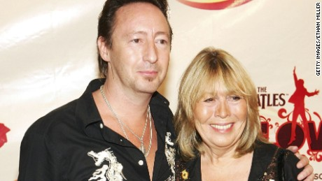"""Julian and Cynthia Lennon attend the 2006 premiere of """"The Beatles Love."""""""