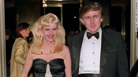 Billionaire Donald Trump and his wife Ivana arrive December 4, 1989 at a social engagement in New York.