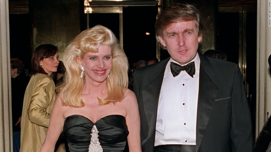 Trump and his wife, Ivana, arrive at a social engagement December 4, 1989, in New York.