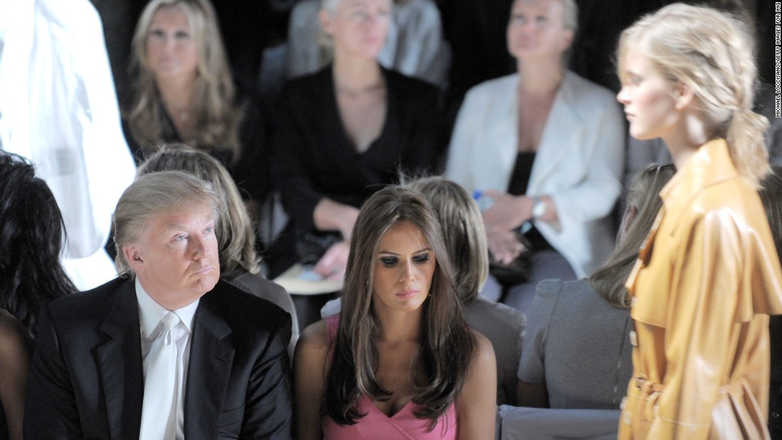 Trump and his wife, Melania, attend the Michael Kors Spring 2011 fashion show during Mercedes-Benz Fashion Week at The Theater at Lincoln Center on September 15, 2010, in New York City.