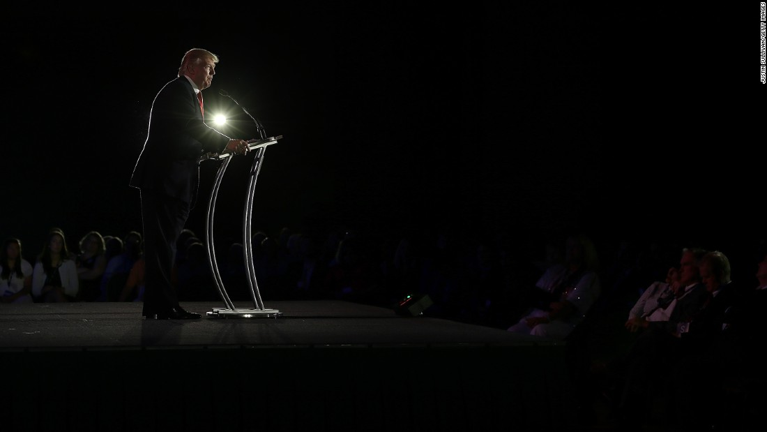 As chairman and president of the Trump Organization and the founder of Trump Entertainment Resorts, Trump speaks during day two of the Republican Leadership Conference on May 30, 2014, in New Orleans, Louisiana.