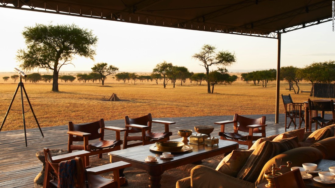 """""""Some of the lodges in the Serengeti ecosystem, where an American hedge fund tycoon created a private game reserve, can be described as ostentatiously opulent (a sheik would be happy to sleep in the stables, someone once observed), but the fact that the Grumeti reserve extends the viable migration area by some 150,000 hectares is one of Africa greatest recent conservation successes."""""""
