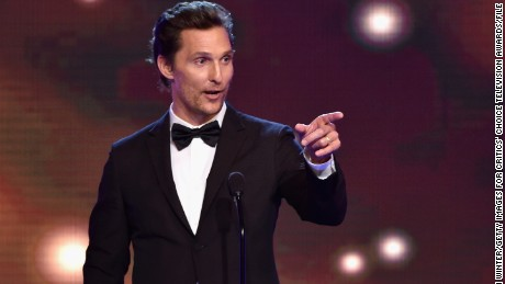 BEVERLY HILLS, CA - JUNE 19:  Actor Matthew McConaughey accepts the Best Actor in a Drama Series award for 'True Detective' onstage during the 4th Annual Critics' Choice Television Awards at The Beverly Hilton Hotel on June 19, 2014 in Beverly Hills, California.  (Photo by Kevin Winter/Getty Images for Critics' Choice Television Awards)